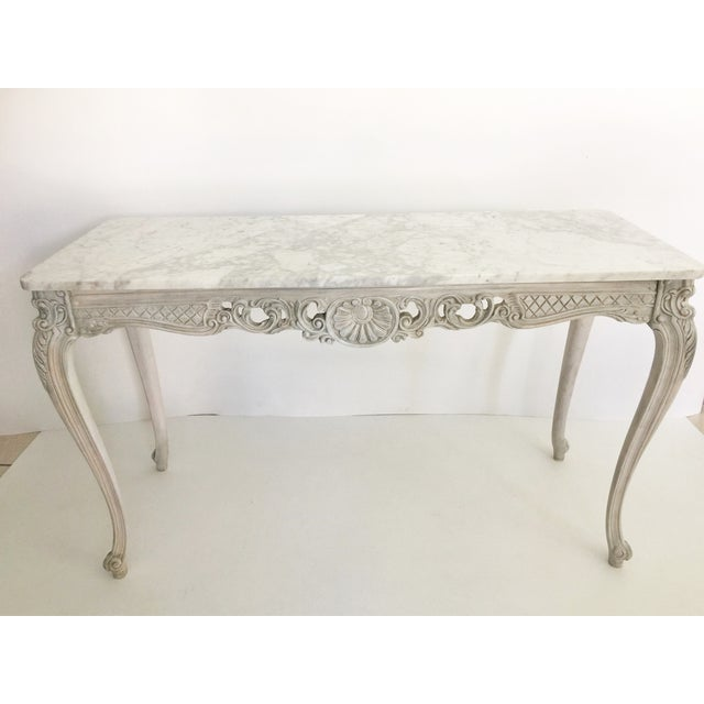 French Marble Topped Console Table - Image 3 of 6