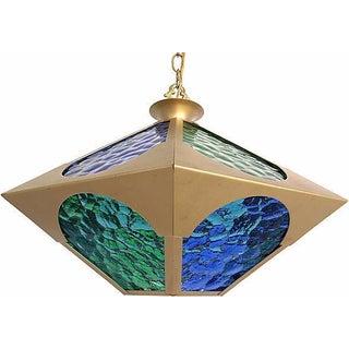 Modern Glass & Brass Pendant