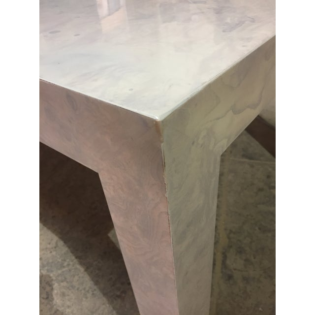 Milo Baughman Whitewashed Milo Baughman Dining Table For Sale - Image 4 of 8
