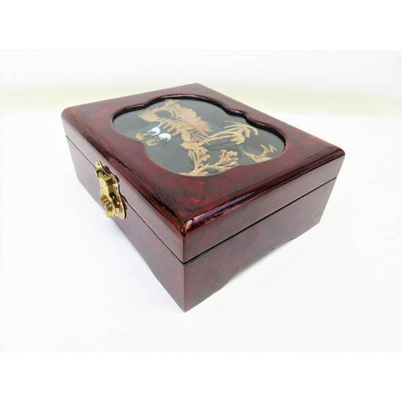 Vintage Wooden Lacquer Box   Jewelry Organizer - Image 5 of 7