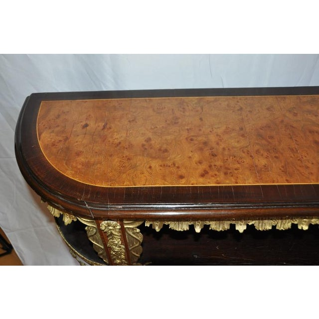 French Antique Louis XVI Style Console After Design by Jean-Henri Riesener For Sale - Image 3 of 13
