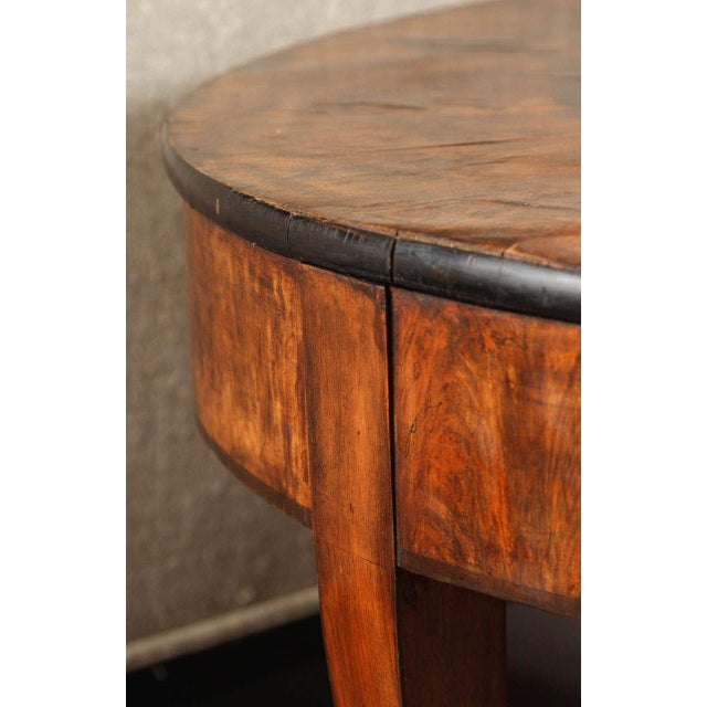Brown Early 20th Century Georgian Burl Wood Tray Top Coffee Table For Sale - Image 8 of 9
