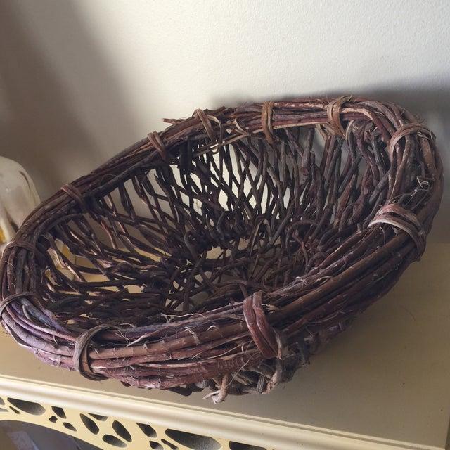 Artisan Wood Branch Nest Basket - Image 7 of 9