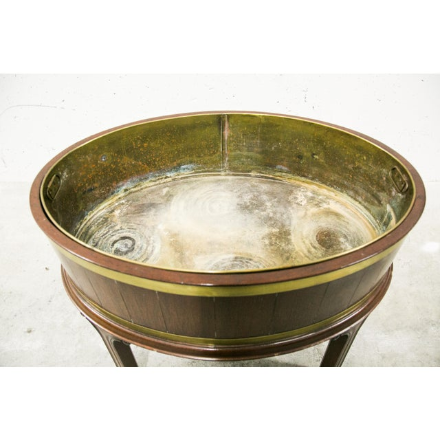 English George III Style Brass Bound Wine Cooler For Sale - Image 9 of 12
