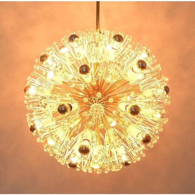 Hollywood Regency Refurbished Pair Of Large Emil Stejnar Starburst Chandeliers Lamps For Sale - Image 3 of 9