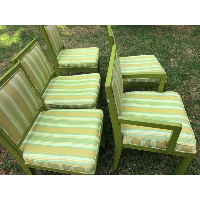 Wood 1970s Vintage Louis G Sherman Chairs - Set of 5 For Sale - Image 7 of 11