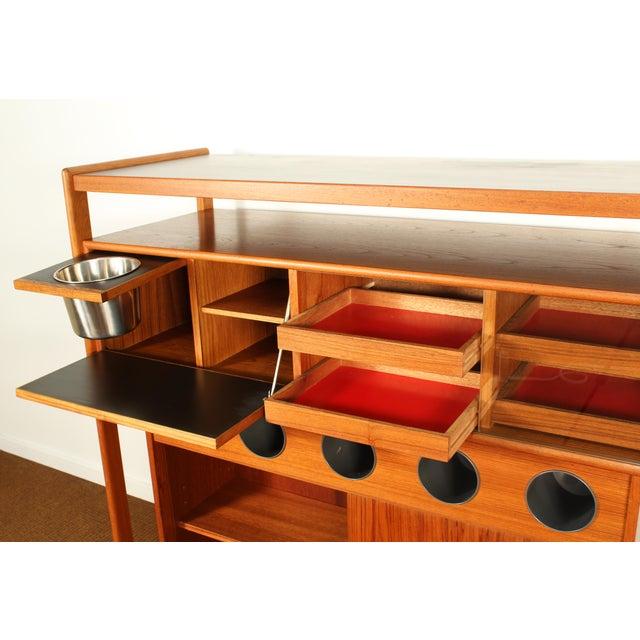 1960s Dyrlund Danish Modern Teak Dry Bar For Sale - Image 5 of 10