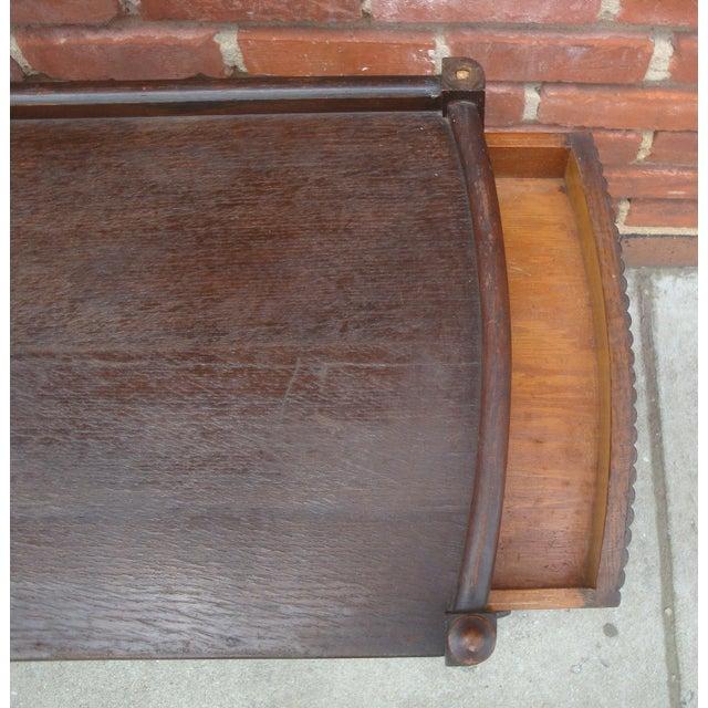 Brown Vintage Streamline Moderne Tea Cart or Bar Cart Art Deco For Sale - Image 8 of 12