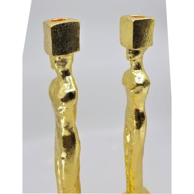 Mid Century Modern Candlesticks - Candle Holders - Giacometti Style - Restored For Sale In Miami - Image 6 of 13