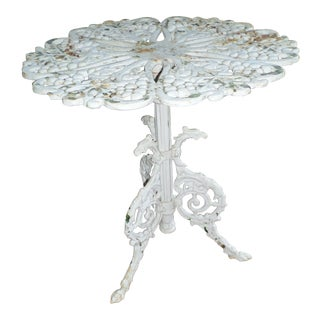 Antique French Table With Griffins Around the Base & Grape Leaf Design Top For Sale