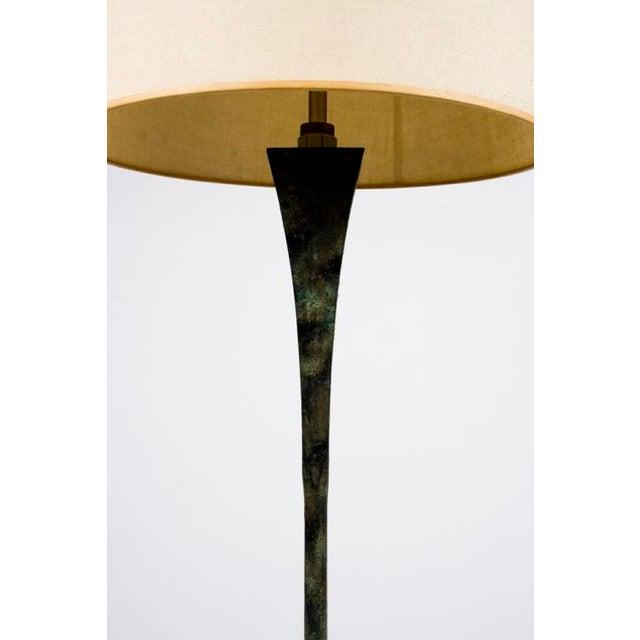 Hansen Lighting Co. Hansen Verdigris Patinated Floor Lamps - a Pair For Sale - Image 4 of 9