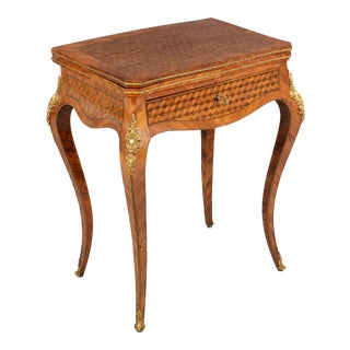 19th Century Louis XV Style Marquetry Game Table For Sale