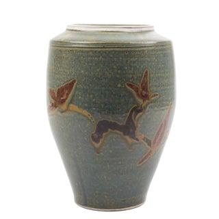 Hungarian Artisanal Ceramic Vase For Sale