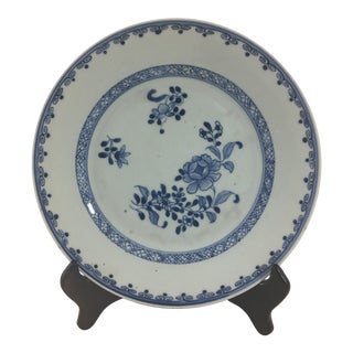 Early 19th Century Chinese Export Blue Celadon Plate For Sale