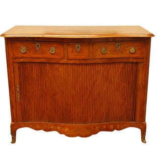 Dutch Marquetry Tambour Cabinet For Sale