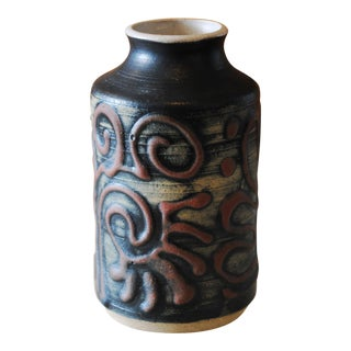 Ceramic Kokopelli Vase by Larry Parker Studio For Sale