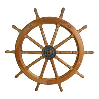 Vintage Huge Ship Wheel