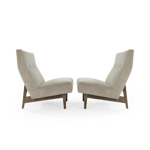 Mid-Century Modern Classic Slipper Chairs by Jens Risom C. 1950s - a Pair For Sale - Image 3 of 12