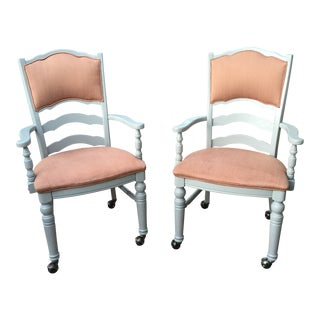 Contemporary Traditional Chair Craft Side Chairs - a Pair