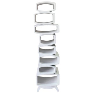 Midcentury White Lacquered Étagère in the Manner of Tejo Remy For Sale