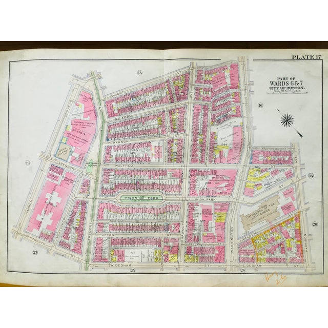 1920s Vintage Bromley Boston's South End Map For Sale In Boston - Image 6 of 6