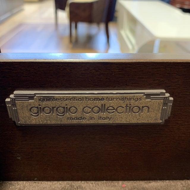 Ebony Giorgio Luna Collection Ebony Makassar Curved Unit For Sale - Image 8 of 13