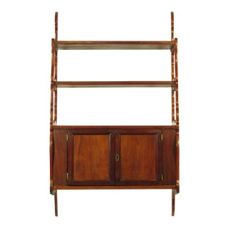 18th Century French Fruitwood Hanging Cabinet For Sale