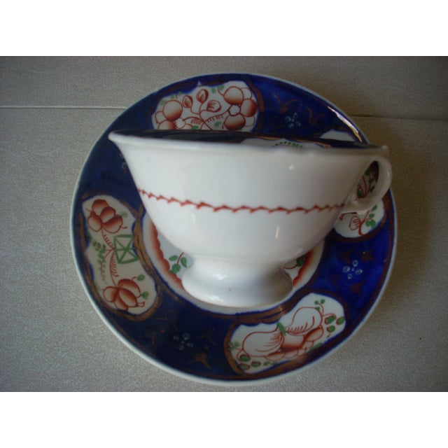 Traditional Gaudy Welsh Cups & Saucers -A Pair For Sale - Image 3 of 5