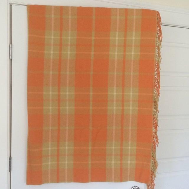 Orange Wool Blanket from London - Image 2 of 8