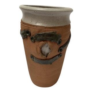 Brutalist Studio Pottery Vase For Sale