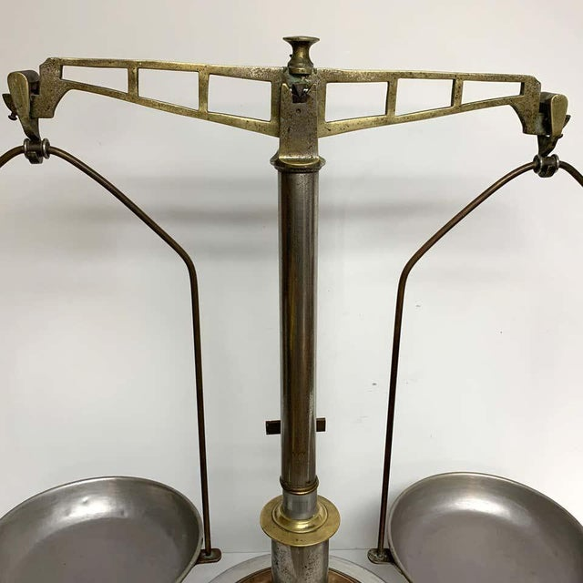Metal Antique Italian Mixed Metal Fruit Scale For Sale - Image 7 of 13