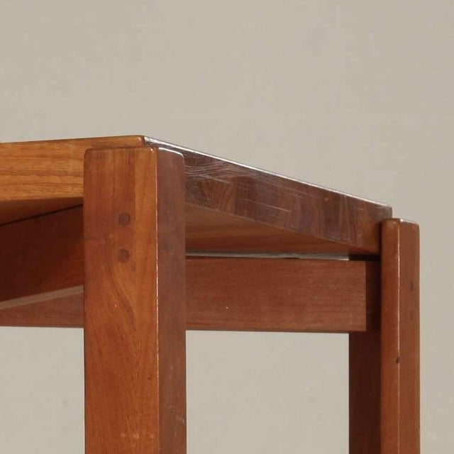 Jens Quistgaard Teak Tray Table with Concave Top, Denmark, 1960s For Sale - Image 6 of 7