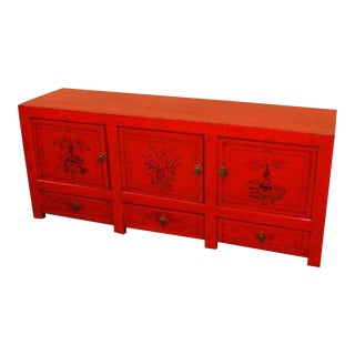 Antique Mongolian Sideboard For Sale