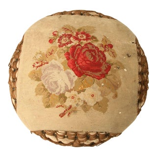 Victorian Pouf Style Ottoman For Sale