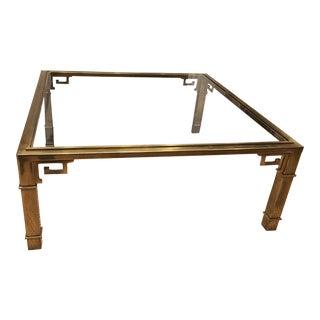 Vintage Mastercraft Brass Greek Key Table