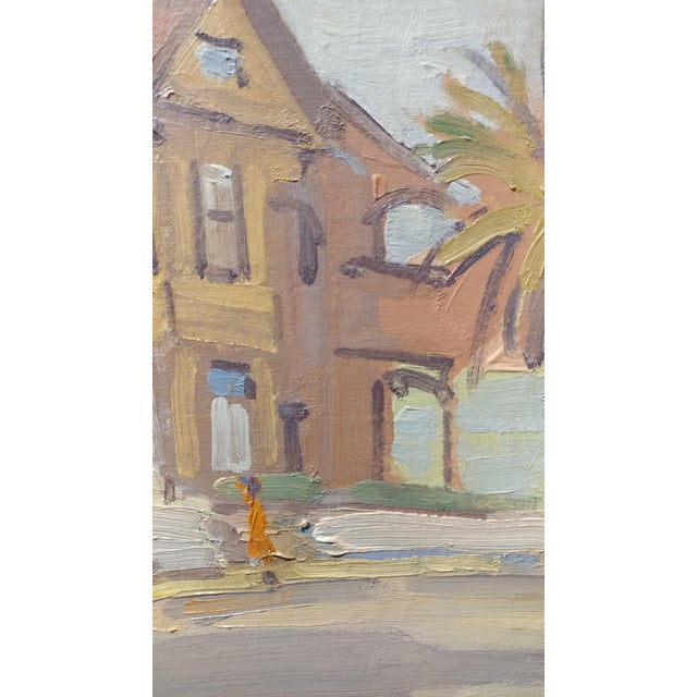 """Fritz Kocher """"Sunset Blvd and Bunkerhill L.A. 1959"""" Original Oil Painting For Sale - Image 4 of 11"""