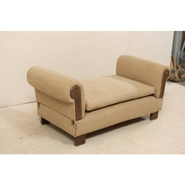 Early 20th Century French Lit De Jour 'Daybed' Circa 1920s-1930s With Nice Rounded Arms For Sale - Image 5 of 11