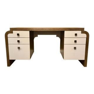 Modern Thomasville Wood Writing Desk For Sale