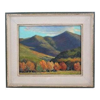 Vintage 1938 Autumnal Landscape Painting For Sale