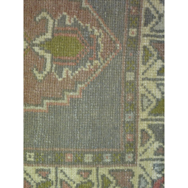 "Vintage Turkish Oushak Rug - 1'7"" X 3'3"" - Image 5 of 5"