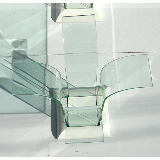 Modernage Furniture Company Modernage Glass Dining Table With Chairs For Sale - Image 4 of 9
