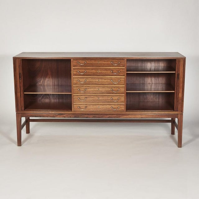 Danish Ole Wanscher Tambour Cabinet, 1960s For Sale In New York - Image 6 of 8