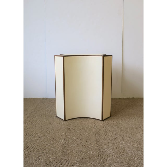 Contemporary Shagreen Esque Side Table For Sale - Image 4 of 10