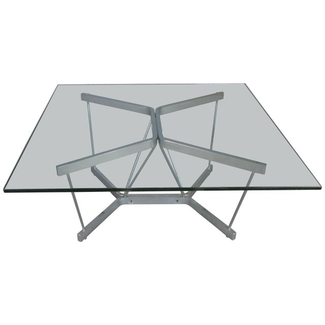Vintage 1960s George Nelson for Herman Miller Chrome and Glass Catenary Table For Sale - Image 9 of 9