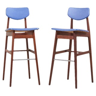 Pair of Bar Stools by Jens Risom, Us, 1960s For Sale