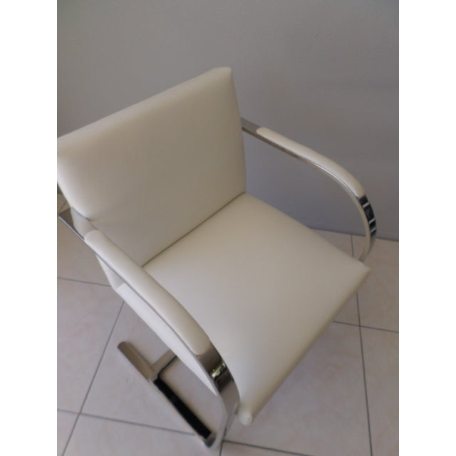 Animal Skin Brueton Stainless Steel and Leather Brno Chairs - Set of 6 For Sale - Image 7 of 10