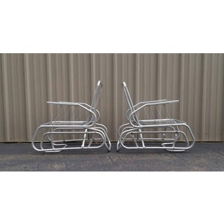 Vintage Mid Century Aluminum Lounge Chairs - A Pair Preview
