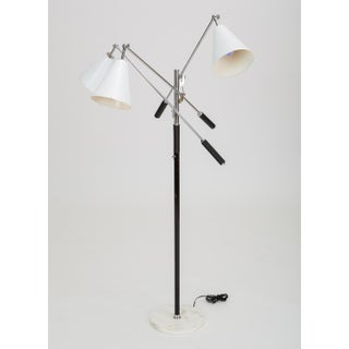 Three-Arm Italian Modernist Floor Lamp With Marble Base Preview