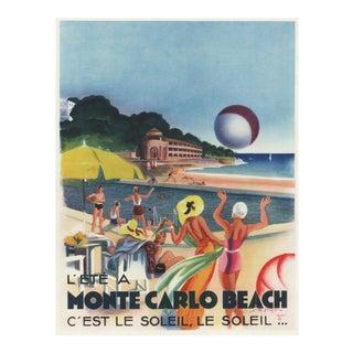 Art Deco Monte Carlo Beach print