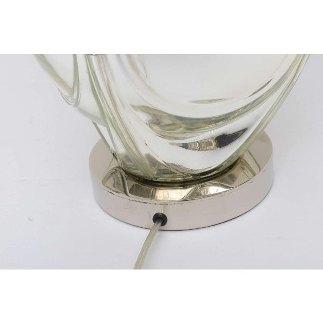 Mid-Century Modern Polished Chrome & Mercury Glass Table Lamp Base For Sale - Image 9 of 10